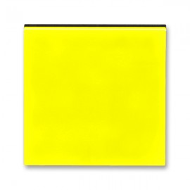 Kryt vypínače ABB LEVIT jednoduchý, žlutá / kouřová černá