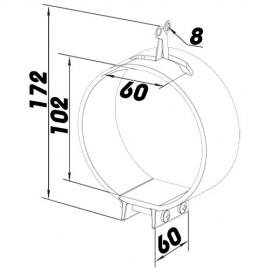 Kovová upevňovací svorka Ø100mm Dalap MCG 100