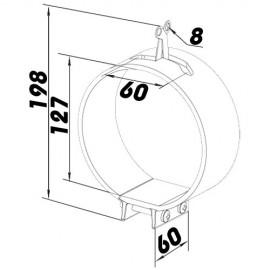 CZ 125 hadicová upevňovací spona
