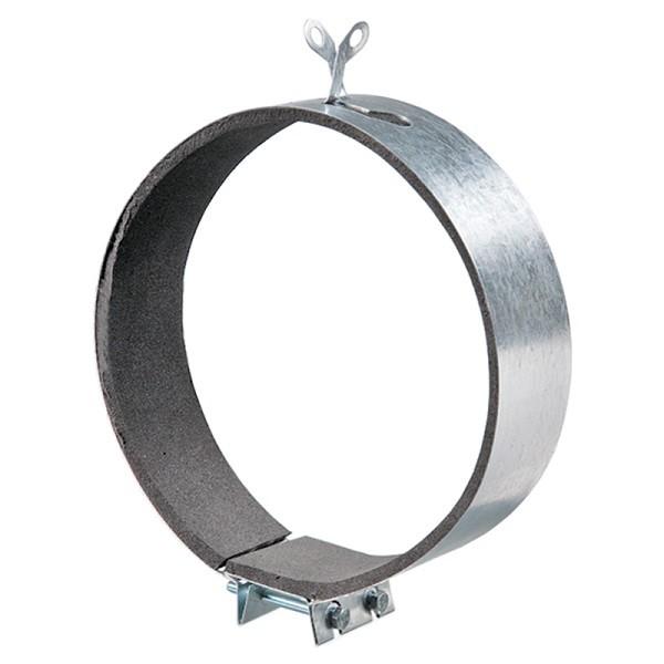 Kovová upevňovací svorka s tlumící gumou Ø125mm
