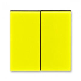 Kryt vypínače ABB LEVIT dělený, žlutá / kouřová černá