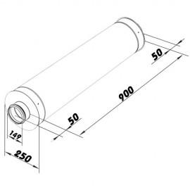 Tlumič hluku 150/900mm