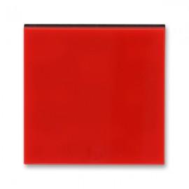 Kryt vypínače ABB LEVIT jednoduchý, červená / kouřová černá