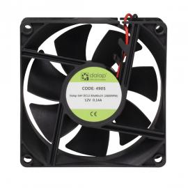 Větrák do PC 12V, 80x80x25 mm, 2600 ot./min.