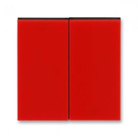 Kryt vypínače ABB LEVIT dělený, červená / kouřová černá