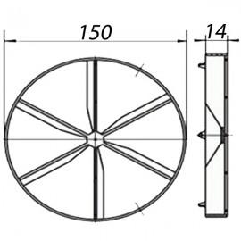 Zpětná klapka slídová 150mm Vents PVC KO150