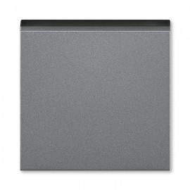 Kryt vypínače ABB LEVIT M jednoduchý, ocelová / kouřová černá