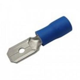 Faston-konektor 6,3 mm modrý pro kabel 1,5-2,5mm2