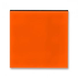 Kryt vypínače ABB LEVIT jednoduchý, oranžová / kouřová černá