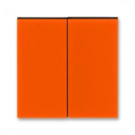Kryt vypínače ABB LEVIT dělený, oranžová / kouřová černá