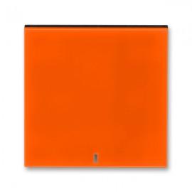 Kryt vypínače ABB LEVIT jednoduchý s průzorem, oranžová / kouřová černá