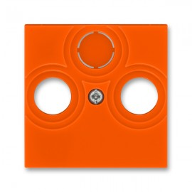 Kryt TV-R-SAT zásuvky ABB LEVIT oranžová / kouřová černá