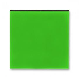 Kryt vypínače ABB LEVIT jednoduchý, zelená / kouřová černá