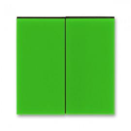 Kryt vypínače ABB LEVIT dělený, zelená / kouřová černá