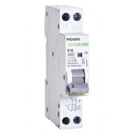 Jednomodulový proudový chránič s jističem Noark 1PN B10 30mA AC