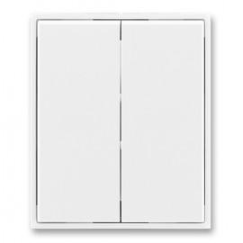 Kryt vypínače ABB TIME dělený, bílá / bílá