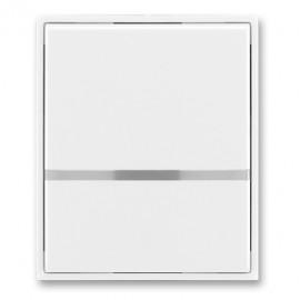 Kryt vypínače ABB TIME jednoduchý s průzorem, bílá / bílá