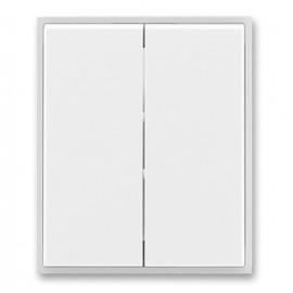 Kryt vypínače ABB TIME dělený, bílá / ledová bílá