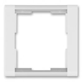 Rámeček ABB TIME jednonásobný, bílá / ledová bílá