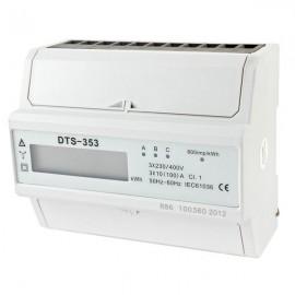 Elektroměr na DIN lištu DTS 353-L 100A 7M třífázový