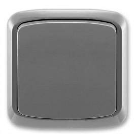 Vypínač Tango ABB jednopólový komplet č.1 kouřově šedý