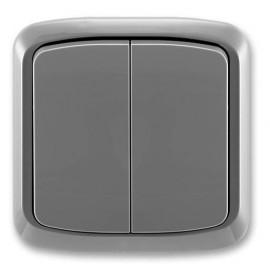 ABB vypínač Tango lustrový komplet č.5 kouřově šedý