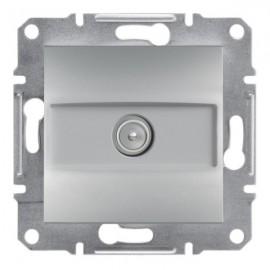 TV zásuvka Asfora koncová, aluminium