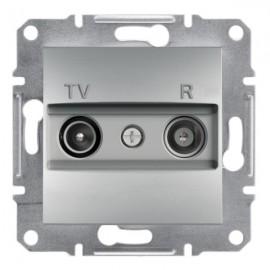 Zásuvka TV+R Asfora koncová, aluminium