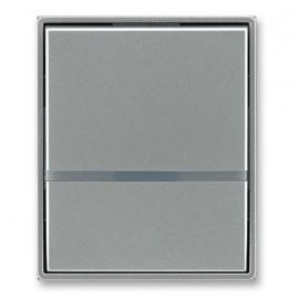 Kryt vypínače ABB TIME jednoduchý s průzorem, ocelová