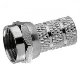 F konektor 5 mm, F-vidlice satelitní šroubovací
