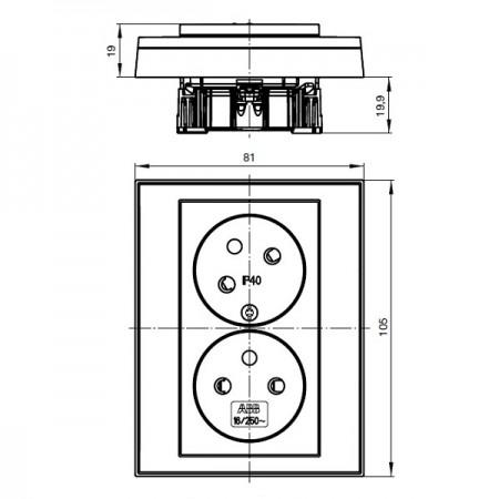 Venkovní vypínač s řazením č.6 a č.1 Galatea antracitový IP44 na zeď vodotěsný