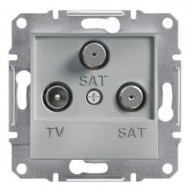 Zásuvka TV+SAT+SAT Asfora koncová, aluminium