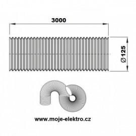 Vzt ventilační potrubí flexi EURO AL 125/3m