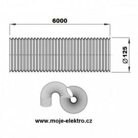 Vzt ventilační potrubí flexi EURO AL 125/6m