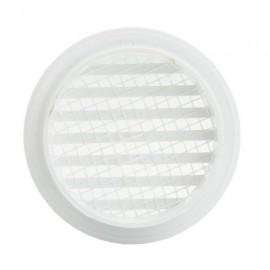 Větrací mřížka na fasádu kruhová s přírubou Ø 80 mm plastová
