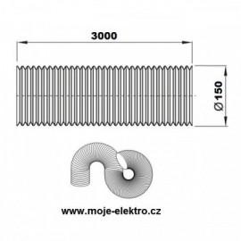Vzt ventilační potrubí Aluflex 150/3m
