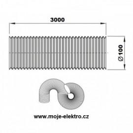 Vzt ventilační potrubí flexi EURO AL 100/3m