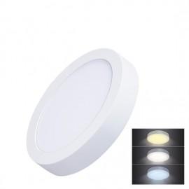 LED mini panel CCT přisazený 12W, 900lm, 3000K, 4000K, 6000K, kulatý