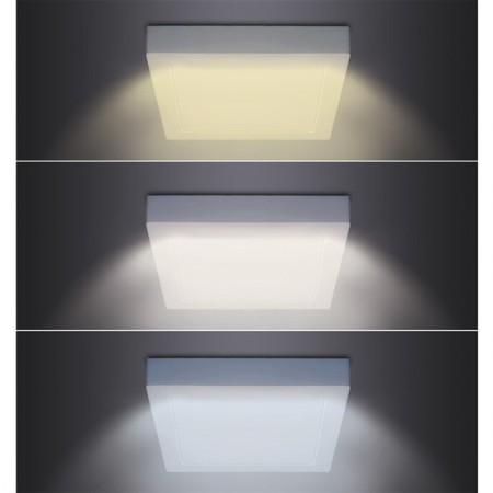 LED noční světlo PIR černé