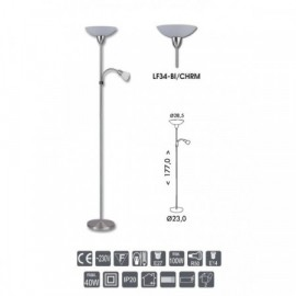 Stojací lampa světlo Duha LF34-BI/CHRM