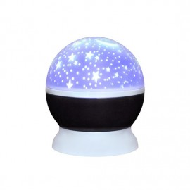 LED projekční koule, multicolor, 9 režimů, otáčení, USB, 4xAAA