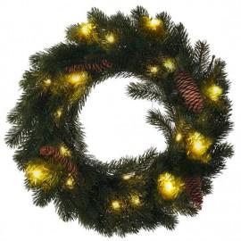 Vánoční věnec s LED řetězem, IP44