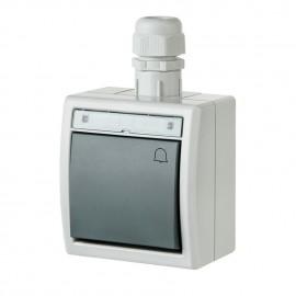 Venkovní zvonkové tlačítko č.1/0 ATLAS IP65 na zeď vodotěsné
