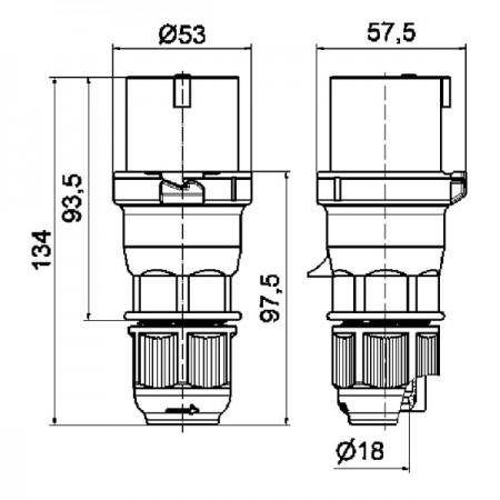 Regulační elektrická PVC klapka Dalap SK1 Ø 150 mm