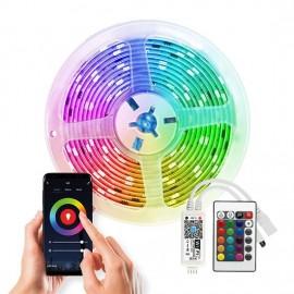Chytrý WiFi RGB LED pásek s ovladačem a trafem, 5m, 200lm/m