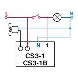 Časový spínač pod vypínač CS3-1B