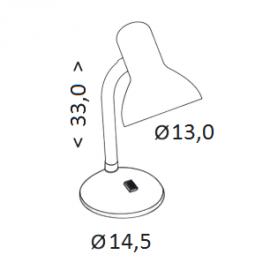 Stolní lampa BOND L077-CR, E27, černá