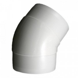 Koleno PVC 45° pro kruhové potrubí Ø 100 mm
