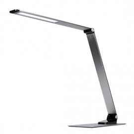 LED stolní lampa s USB, stmívatelná, 11W, 3000K-6000K, broušený hliník, stříbrná
