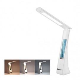 Stmívatelná LED stolní lampa s displejem, 5W, USB, bílá